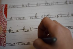 Schrijven in het schrijfschrift