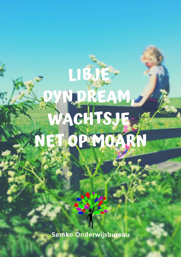 Libje dyn dream. Fryske poster