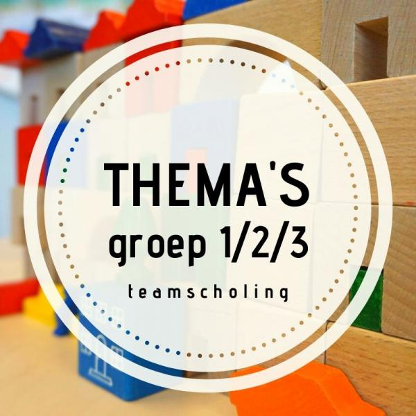 Teamscholing thema's groep 1,2,3